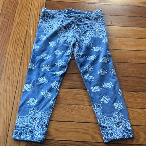 Flowers by Zoe blue leggings size 3